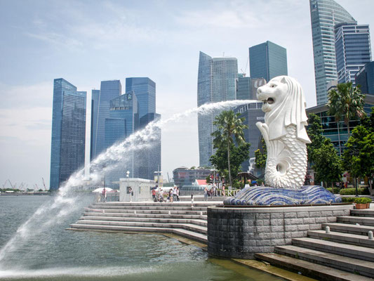 SINGAPORE - il Merlion a Marina Bay (Photo by Gabriele Ferrando - LA MIA ASIA)