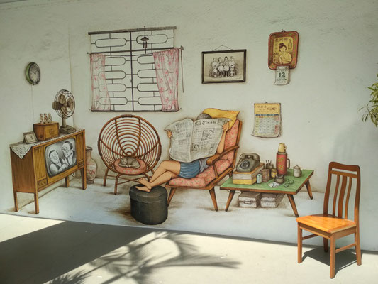 HOME - Murales a Tiong Bahru, Singapore (Photo by Gabriele Ferrando - LA MIA ASIA)