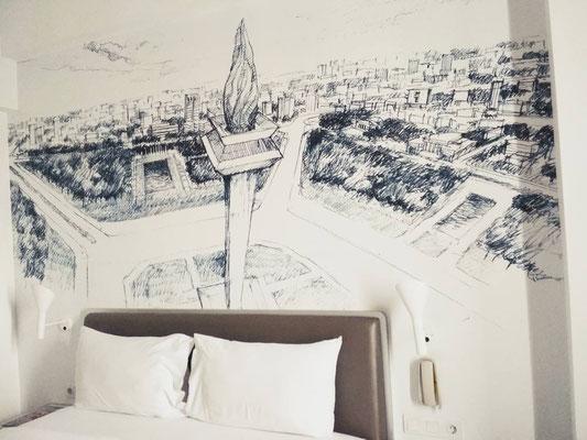 Murales della Monas - Yello Hotel Harmoni di Jakarta (Photo by Gabriele Ferrando - LA MIA ASIA)