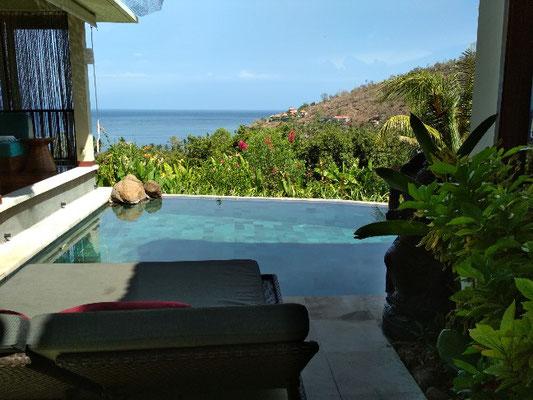 Spettacolare vista sull'oceano dalla villetta con piscina privata del Griya Villas Amed