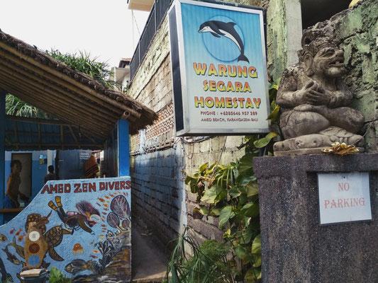 Entrata dalla strada del Warung Segara Amed