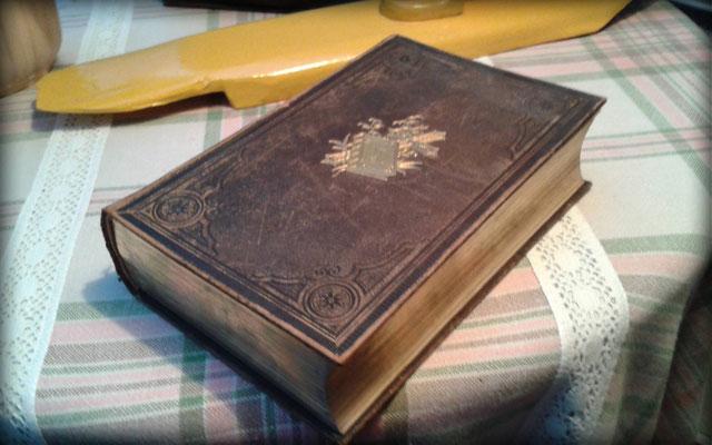 alte Bibel mit Goldrand