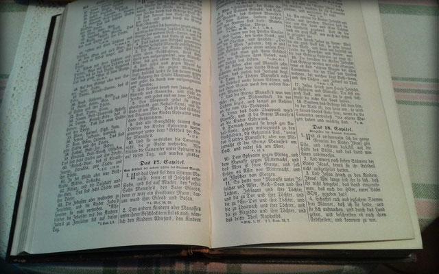 alte Bibel unleserlich