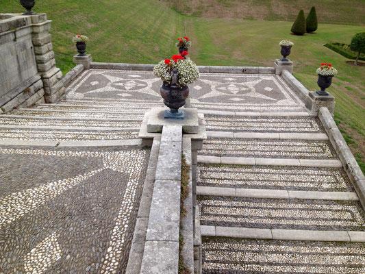Treppe zum italienischen Garten