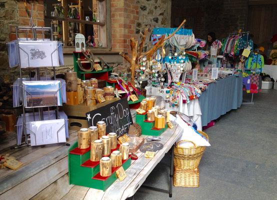 Marktstand im ehemaligen Pferdestall von Killruddery