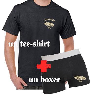 tshirt et boxer pêche