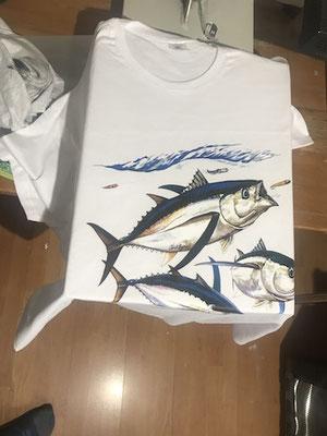 cadrage de tee shirt pêcheur