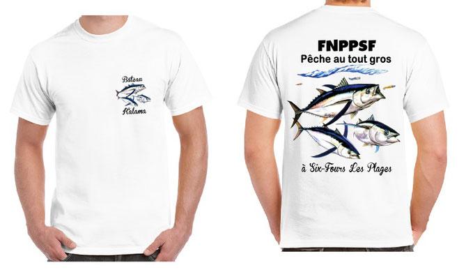 tee-shirt école de pêche