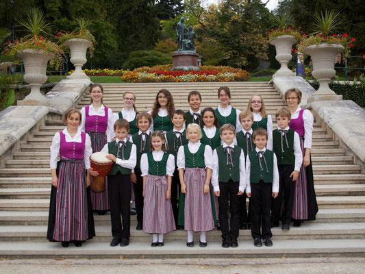Stötten Kinderchor damals im September 2012, jetzt Jugendchor