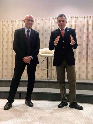 DEBRA Austria Obmann Stv. Franz Feichtlbauer und Obmann Dr. Rainer Riedl