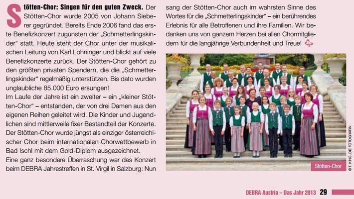 DEBRA Austria Tätigkeitsbericht 2013 - Stöttenchor