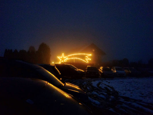 Der Stern weißt den Weg nach Stötten.