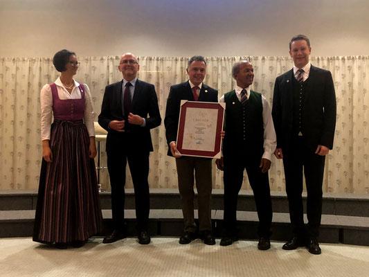 v.l.n.r. Diana Pühringer, Franz Feichtlbauer, Dr. Rainer Riedl, Johann Sieberer & Bernhard Wegerer