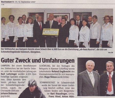 2007/09 Bezirksblätter Vöcklabruck