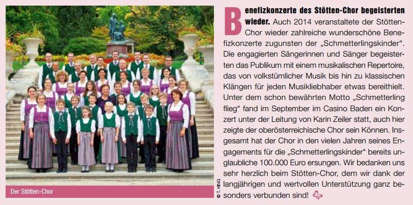 DEBRA Austria Tätigkeitsbericht 2014 - Stöttenchor