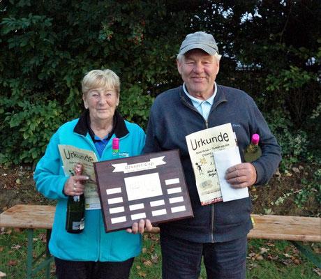 1. Platz Helga Stange und Karl-Heinz Cornils