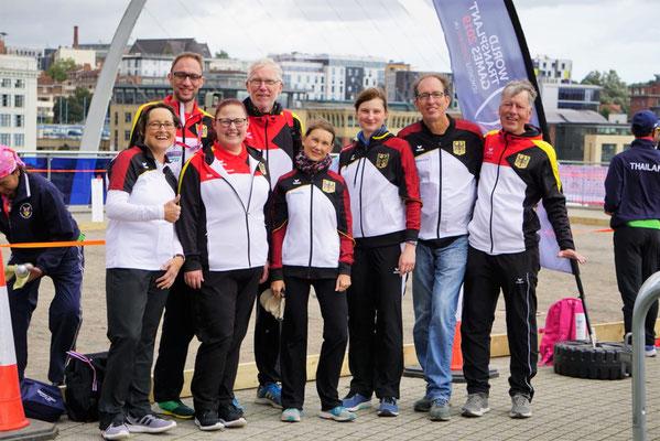 Das Pétanque-Team der deutschen Delegation in Newcastle