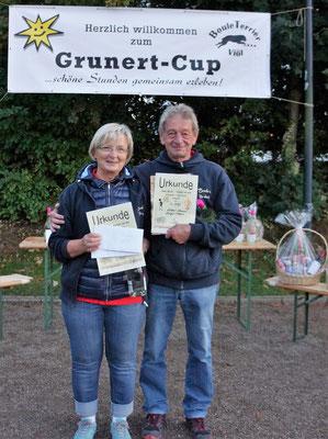 1. Platz B-Pokal Birgit und Norbert Stamm