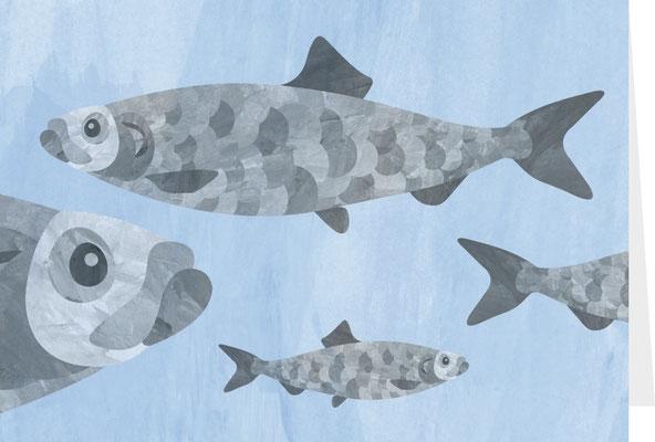 Grußkarte Fische
