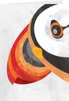Grußkarte Papageientaucher Portrait