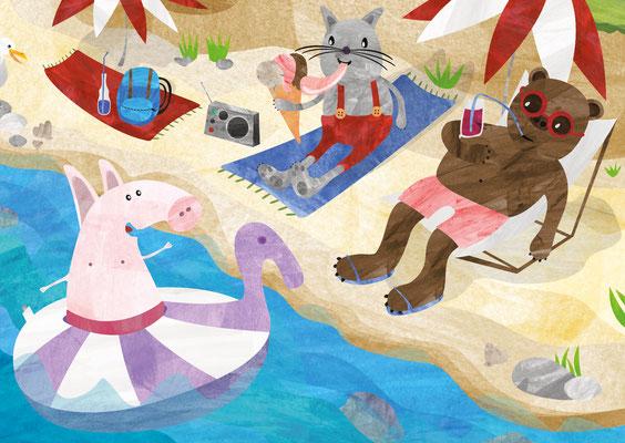 Postkarten Strandtag