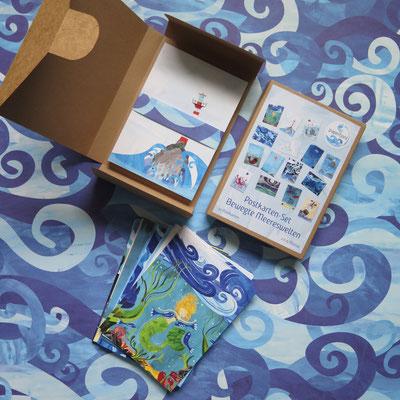 Postkarten-Set Bewegte Meereswelten