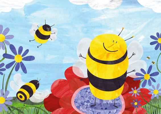 Postkarte Bienen