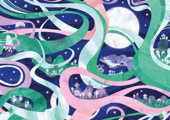 Postkarte Nordlichter