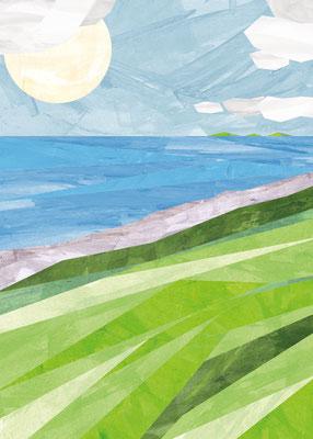 Postkarte Küste