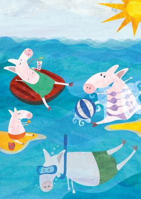 Postkarten Wasserschweinchen