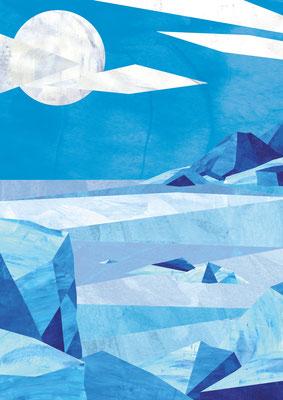 Postkarte Eisfjord