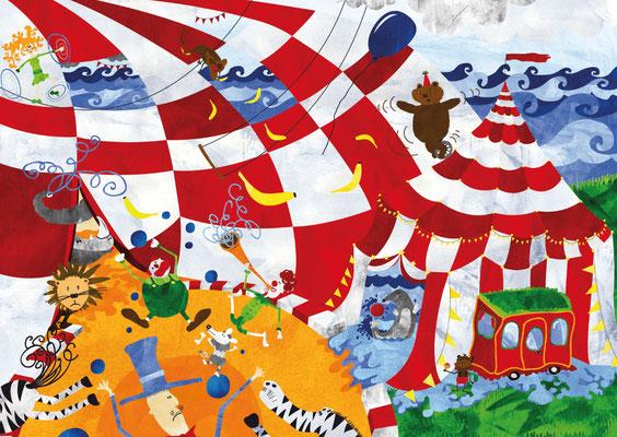 Postkarten Zirkus am Meer