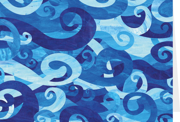 Grußkarte Wellen