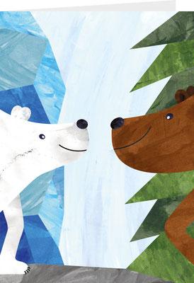 Grußkarte Bären