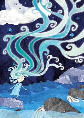 Postkarte Auroras Nacht