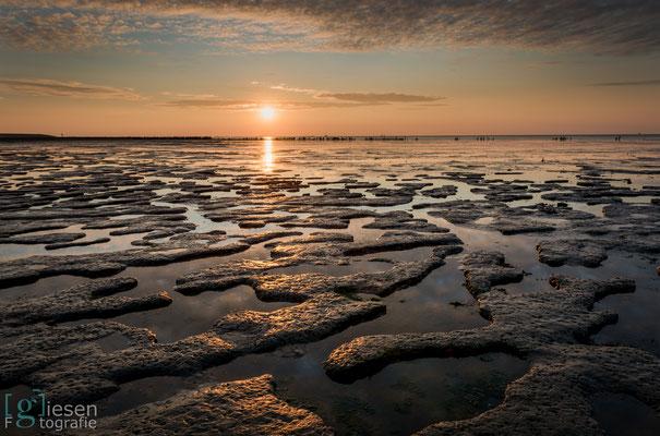 Een schitterende zonsondergang in Moddergat met Lando Groothuis en Matthijs Bakker (juli 2018) Moddergat, Friesland