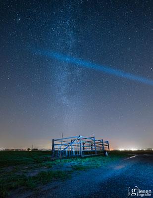 De Melkweg gefotografeerd boven Emmen (januari 2018) Emmen, Drenthe