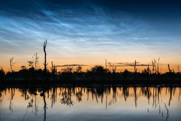 Lichtende nachtwolken in de nacht van 12 op 13 juni (juni 2019) Klazienaveen-Noord