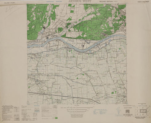 Holland Sheet 6 N.W West Arnhem West, [1944]