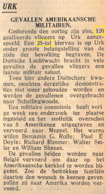 Re-burial of five USAAF soldiers who were buried at Urk, 17-4-1946.