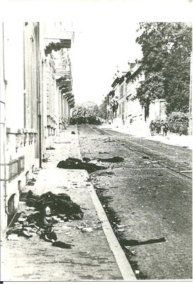 A German photograph showing the bodies of Lance-Corporal Loney and Private Shipley