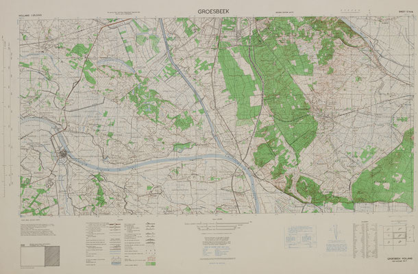 Gelders Archief 1509-1055 Holland Sheet 12 N.W. Groesbeek, 1944-1945