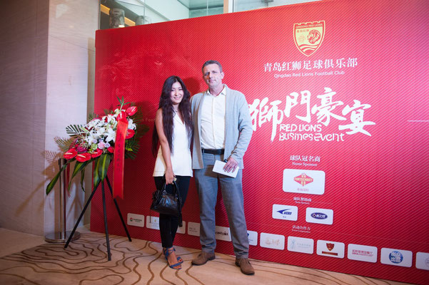 FORTSCHRITT Production Manager Arne Krüger with his wife Kiki Huangfu at the RED LIONS BUSINESS EVENT this year.