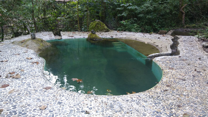 Quellheilpool fertig! lista la laberca sanadora manantial! ready the healing spring water pool!