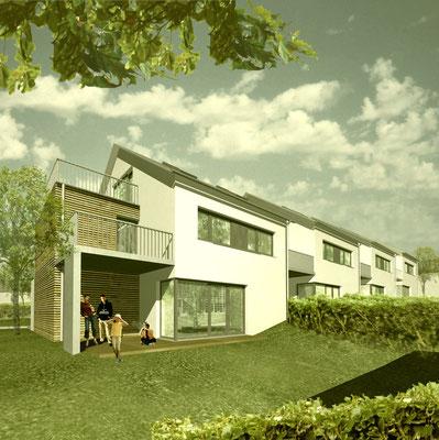 Neubau Doppel- und Reihenhäuser Baindt, Gartenstraße  Baujahr 2010 bis 2011