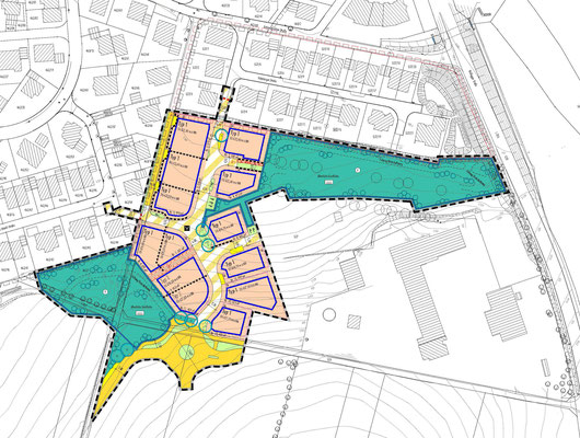 """Baulanderschließung mit Grundstücksverkauf Bad Waldsee, Baugebiet """"Frauenberg V"""" 2006 bis 2009"""