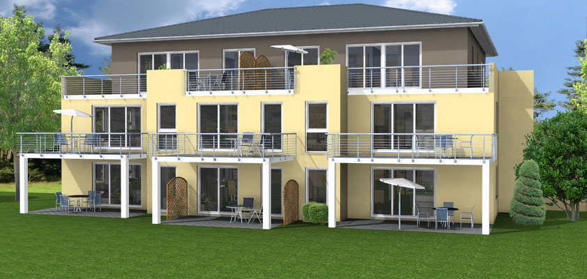 Neubau Mehrfamilienhaus mit acht Wohnungen  Weingarten, Am Bläsiberg Baujahr 2011 bis 2012
