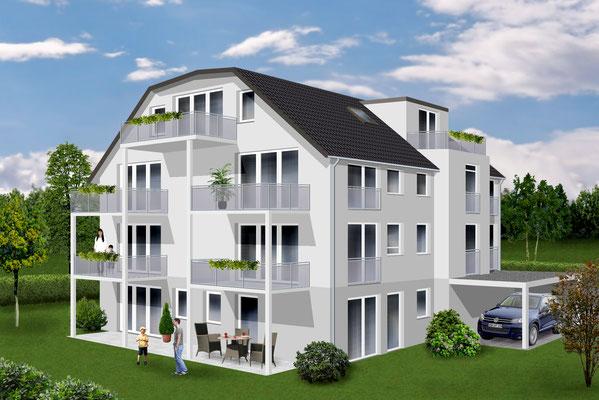 Neubau Mehrfamilienhaus mit sechs Wohnungen  Weingarten, Mochenwanger Straße  Baujahr 2013 bis 2014