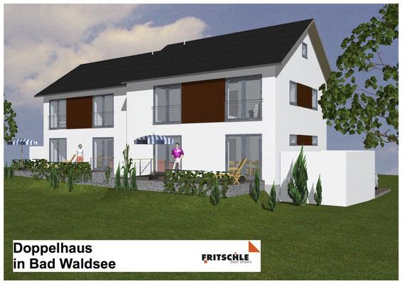 Neubau Doppelhaus Bad Waldsee, Franz-Liszt-Straße Baujahr 2010 bis 2011