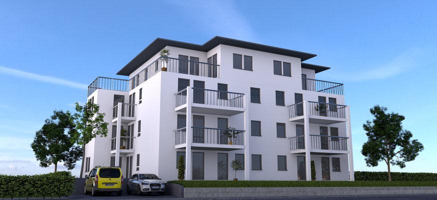 Neubau Mehrfamilienhaus mit zwölf Wohnungen  Weingarten, Burachstraße Baujahr 2014 bis 2015